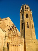 Seu Vella old cathedral, Lleida, Catalonia, Spain