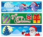 Christmas banners collection 3 _ picture illustration.
