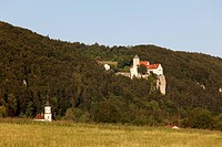 Germany, Bavaria, Lower Bavaria, View of Prunn Castle
