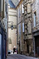 Alleyway, Tour des Echevins, Brive la Gaillarde, Correze, Limousin, France, Europe