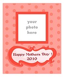 Mother´s Day card for girls, vector illustration