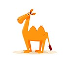 cartoon camel, vector illustration