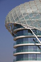 Architectural detail of the Yas Viceroy Hotel, Abu Dhabi, United Arab Emirates