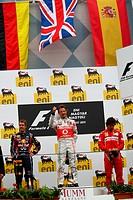 podium: 1st Jenson Button GBR, McLaren Mercedes, MP4_26, 2nd Sebastian Vettel GER, Red Bull Racing, RB7, 3rd Fernando Alonso ESP, Scuderia Ferrari, F_...
