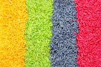 Background Of Multi color Stripes Rice