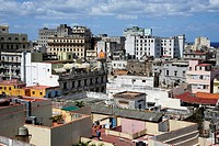 View over the rooftops, historic district of Havana, Habana Vieja, Cuba, Greater Antilles, Caribbean, Central America, America