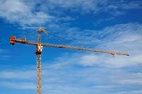tower crane on the blue sky