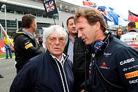 Race, Bernie Ecclestone GBR, President and CEO of Formula One Management and Christian Horner GBR, Red Bull Racing, Sporting Director, Belgian Grand P...