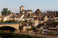Village of Argentat, Dordogne valley, Correze, Limousin, France, Europe