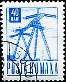 ROMANIA _ CIRCA 1967: A stamp printed in Romania shows Power Lines, circa 1967