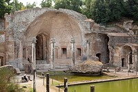 Serapeum at the end of the Canopus at Hadrian's Villa, Villa Adriana, Tivoli, Italy, Europe