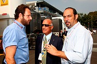 Qualifying, Matteo Bonciani ITA FIA Head of communications and Dr. Angelo Sticchi Damiani ITA Aci Csai President