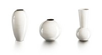 set of ceramic vases, isolated 3d render