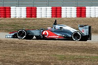 Jenson Button, GB, McLaren_Mercedes MP4_27, during the Formula 1 testing sessions, 21._24.2.2012, at the Circuit de Catalunya in Barcelona, Spain, Eur...