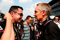 Race, Eric Boullier FRA, Team Manager, Renault F1 Team and Martin Whitmarsh GBR, Chief Executive Officer Mclaren