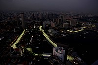 Friday Practice 1, Nigth view of Marina Bay Street Circuit