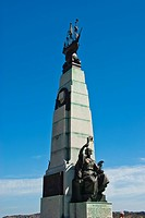 Stanley, Falkland Islands.Battle Memorial honors the Battle of the Falkland Islands in 1914.