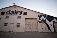 Lincoln, Nebraska..A dairy building on the old state fairgrounds in Lincoln, NE.