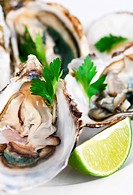 Oysters with lime