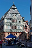 Hotel zum Riesen, half timbered houses, Miltenberg, Lower Frankonia, Frankonia, Bavaria, Germany, Europe