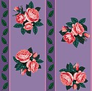 vector red rose line seamless background pattern