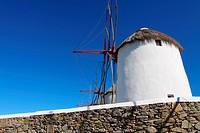 Windmills of sunny Mykonos