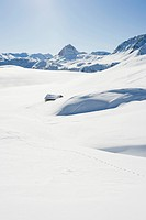 Snow_covered mountain landscape, Tignes, Val d´Isere, Savoie, Alps, France, Europe