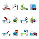 car and automobile service icon _ vector icon set