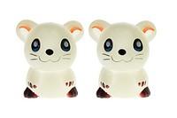Toy Mice on White Background