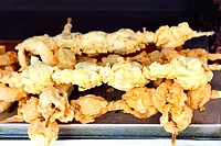 Bunch of fried mussels