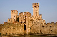 The Scaliger Castle, Castello Scaligero, in Sirmione, Lombardia, Italy, Europe