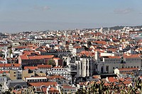 View from Castelo do Sao Jorge, Bairro Alto, Lisbon, Lisboa, Portugal, Europe