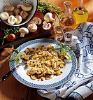 Mushrooms in a mustard sauce, cold starter, Netherlands, recipe available for a fee