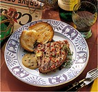 Grilled tuna with caper mayonnaise, Portugal, recipe available for a fee