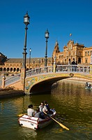 Plaza de Espana square complex 1929 central Seville Andalusia Spain