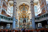 Frauenkirche, Church of Our Lady, Dresden, Saxony, Germany, Europe