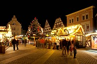 Christmas market on Alter Markt square, Unna, Ruhr area, North Rhine_Westphalia, Germany, Europe, PublicGround