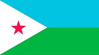 Illustration of the national flag of Djibouti.