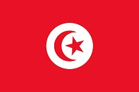 Illustration of the national flag of Tunisia.