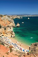 Camilo beach near Lagos, coastal rocks in the Algarve, Atlantic Coast, Portugal, Europe