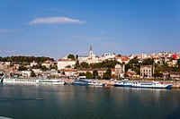 Belgrade, View from the river Sava, Serbia Europe