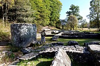 Gallo-Roman archaeological site of Les Cars, Saint Merd les Oussines, Parc Naturel Regional de Millevaches en Limousin, Millevaches Regional Natural P...
