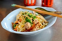 Asian style noodle with pork and fish ball