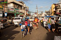 traffic in the capital Puerto Princesa, Palawan Island, Philippines, Asia