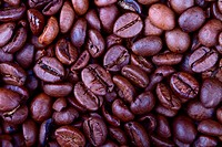Background from fried grain coffee