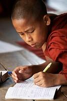 Buddhist Monks, Nyaungshwe, Lake Inle, Shan State, Myanmar, Burma, Asia