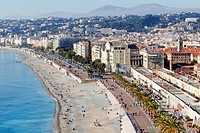 France, Alpes-Maritimes , Nice from the mount Boron.
