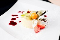 Panna cotta with white chocolate