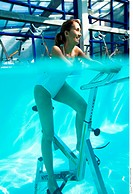 Woman aquabiking