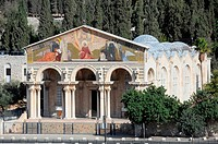 Church of All Nations, or Basilica of the Agony in Jerusalem, Israel.